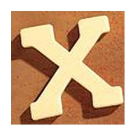 Lettre en bois 'X' 4cm