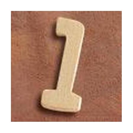 FSC Chiffre en bois '1' 4cm