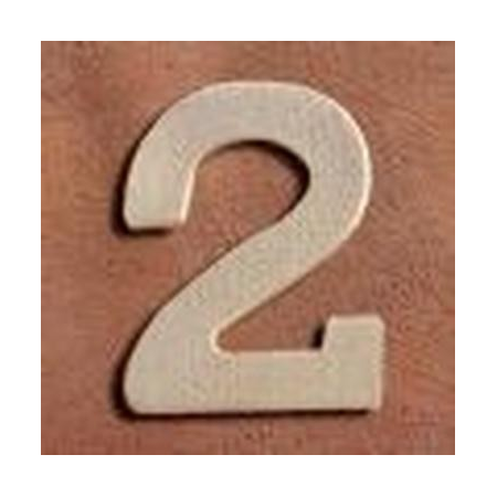 FSC Chiffre en bois '2' 4cm