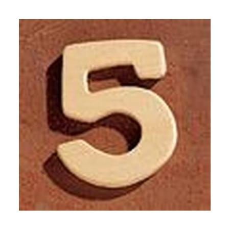 FSC Chiffre en bois '5' 4cm