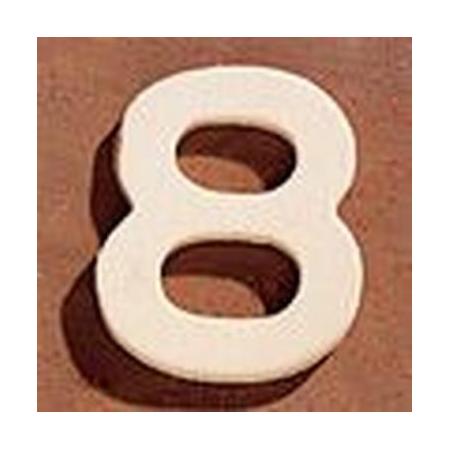FSC Chiffre en bois '8' 4cm