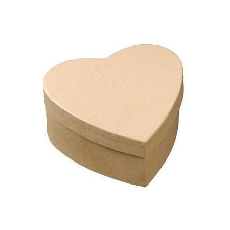 Boîte de coeur 9x9x4cm