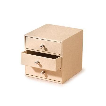 FSC Boîte/3 tiroirs10x9,5x9,5