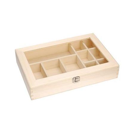 Boîte assort.bois31,5x22x6