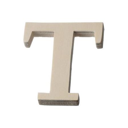 Lettre en bois'T'8cm