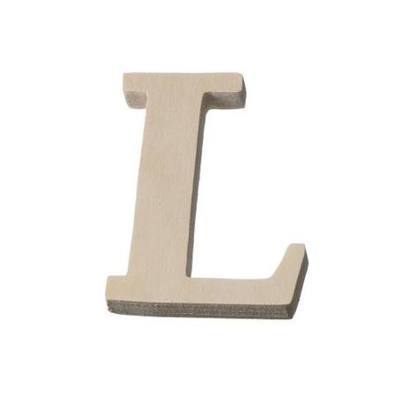 Lettre en bois'L'8cm