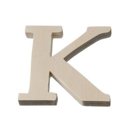 Lettre en bois'K'8cm