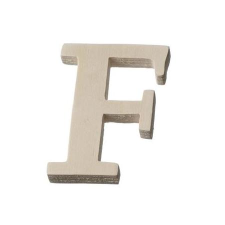 Lettre en bois'F'8cm