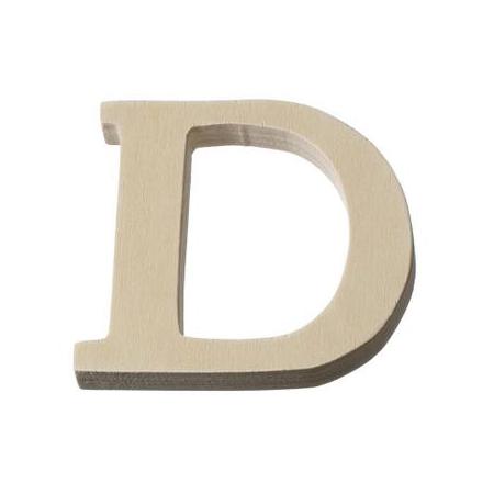 Lettre en bois'D'8cm