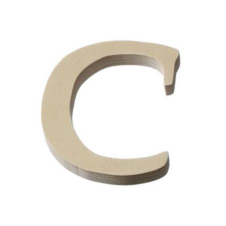 Lettre en bois'C'8cm