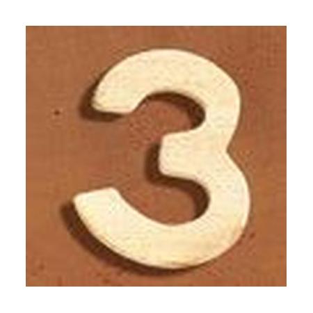 FSC Chiffre en bois '3' 4cm