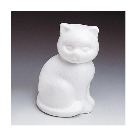 Chat en polystyrène 13cm