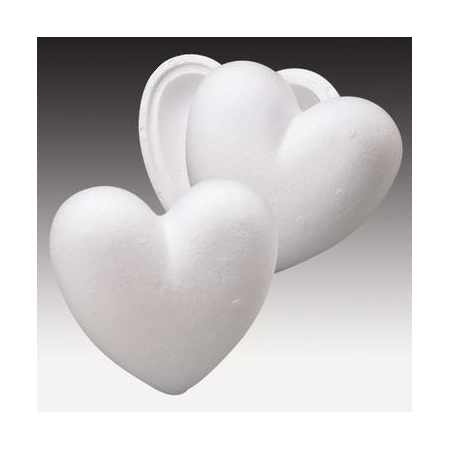 Coeur div. en polystyrène 15cm