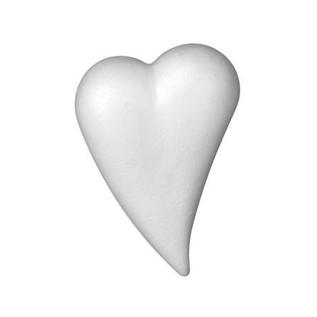 Coeur goutte polystyrène 14x20