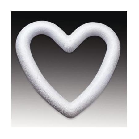 Coeur contour en polystyrène 20cm les 5 pièces