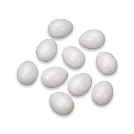 Oeufs de pigeon blanc 45x32mm 10 pces