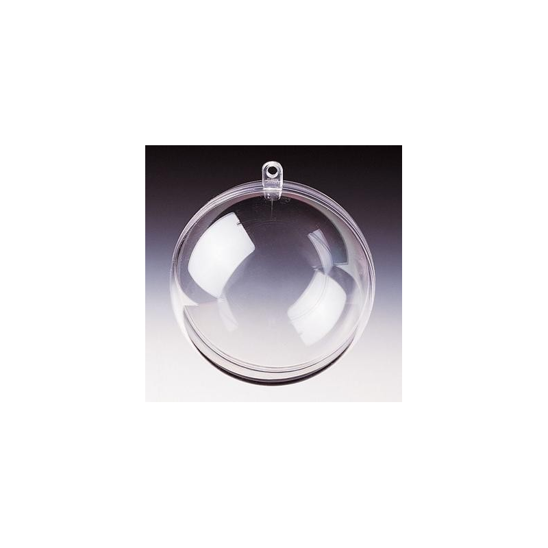 Boule divisible en plastique 7cm cr - Boule en plastique pas cher ...