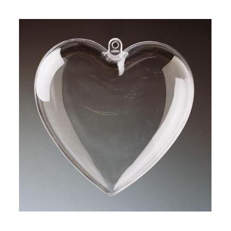 Coeur en plastique 6cm