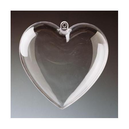 Coeur en plastique 10cm