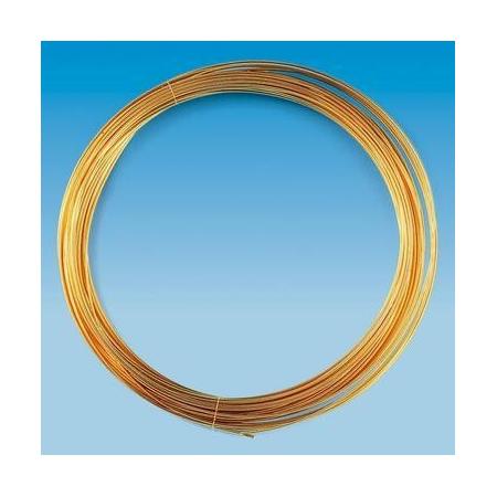 Fil métallique plaqué or 0,6mm 10m