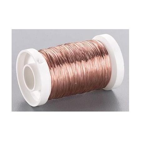 Fil métallique/rouleau 0.40mm cuivre 40m