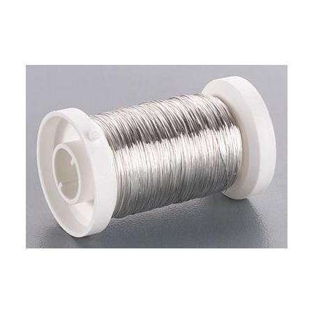Fil métallique/rouleau 0.60mm argent 15m