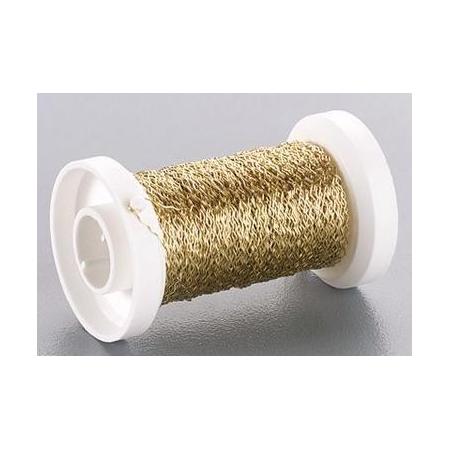 Fil métallique bouillon 0.25mm doré 50m