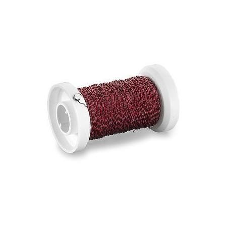 Fil métallique bouillon 0,25mm rouge 50m