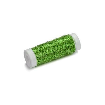 Fil métallique bouillon 0,25 vert 50m