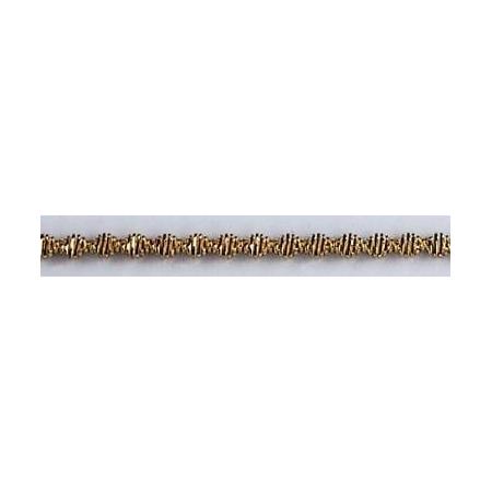 Bouillon crépé denté 1.5mm argent 1.5m