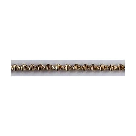 Bouillon crépé denté 3.0mm argent 2m