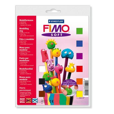 Kit de base Fimo dans 9 colori