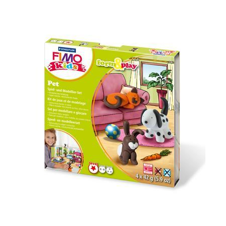 FIMO kids kit form & play, animal de compagnie