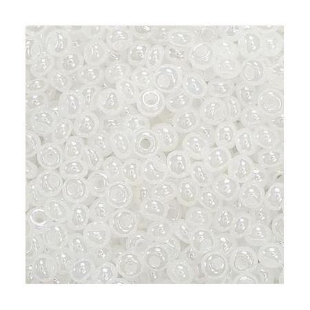 Rocailles en verre blanc