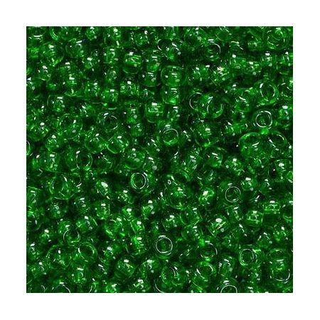Rocailles en verre vert foncé