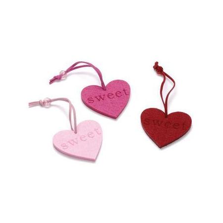 Coeur en feutrine 6cm