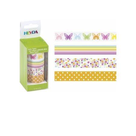 Ruban adhésif de décoration Papillons x4