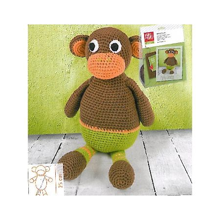 Kit animal en crochet Singe