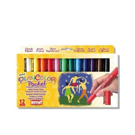 Gouaches solide Basic Pocket - Boîte de 12 couleurs
