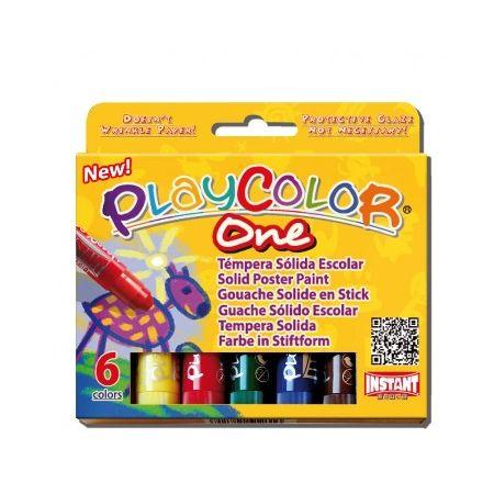 Gouaches solide Basic One - Boîte de 6 couleurs
