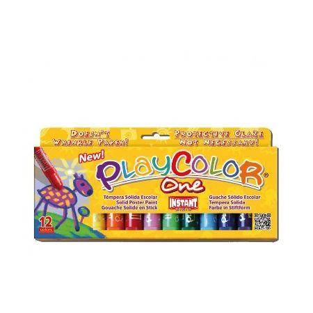 Gouaches solide Basic One - Boîte de 12 couleurs