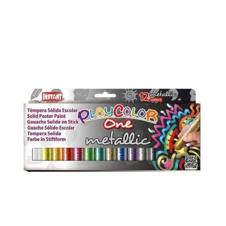 Gouaches solide Metallic One - Boîte de 12 couleurs