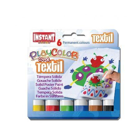 Gouaches solide Textile One - Boîte de 6 couleurs