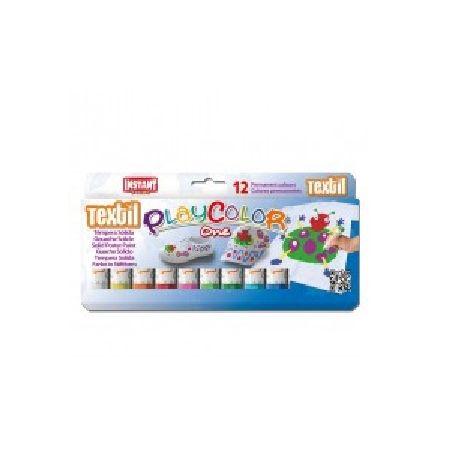 Gouaches solide Textile One - Boîte de 12 couleurs