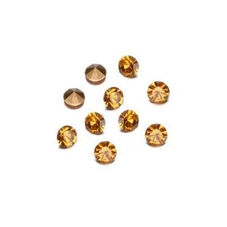 Pierres de strass 2,3-2,4mm smok.topaze