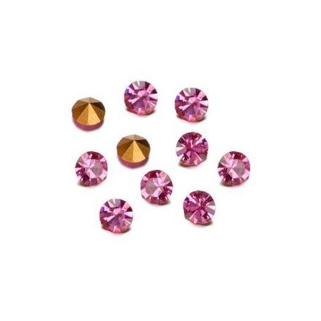 Pierres de strass 2,3-2,4mm rose