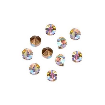 Pierres de strass 2,3-2,4mm crystal AB