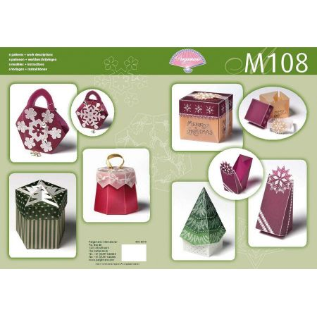 Livre motif M108 Boîtes de Noël
