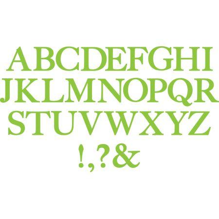 Bigz Die Alphabet