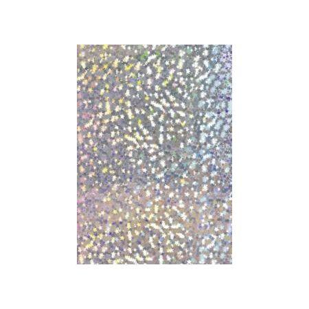 Carton hologramme 50x70 étoiles 160g argent